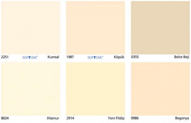 Dyo Renk Kartelası İç Cephe Renk Kataloğu