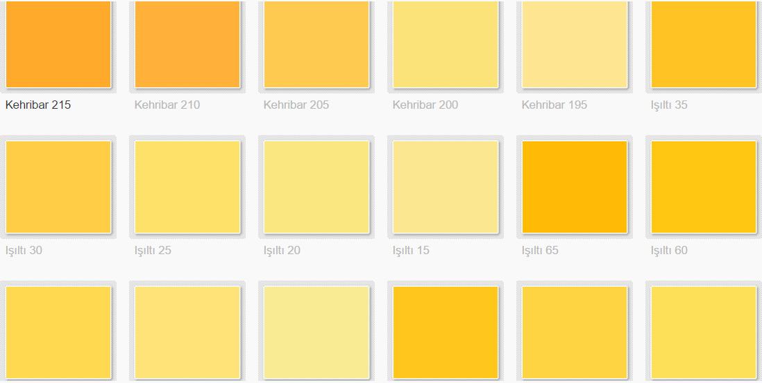 0532 451 09 20 Filli Boya Renk Kataloğu Iç Cephe Renk Kartelası 1